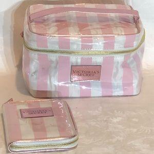 Victoria's Secret train case travel bag